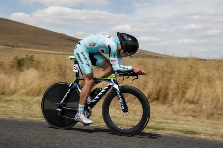 Nick in the 2014 Natioanls time trial championship race